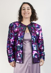 Multicolor vintage sequined jacket (Sweet Vintage Lady) Tags: 80s etsy eighties 1980s sequinedjacket sequinjacket sequinblazer vintagesequinjacket sweetvintagelady retrosequin multicolorsequin multicolorsequined purplesequinjacket womensequinjacket