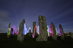 Lenser'd Stones (Colin Cameron ~ Photography ~) Tags: longexposure nightphotography lightpainting megalithic dark scotland standingstones fullmoon moonlight isleoflewis stonecircle calanais callanishstandingstones lightjunkies