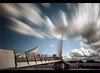 Boom on the bridge........ (Digital Diary........) Tags: longexposure architecture clouds canon manchester movement salfordquays le weldingglass