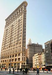 Manhattan's Flatiron (floralgal) Tags: nyc newyorkcity windows architecture manhattan businesses urbanstreetphotography flatiornbuilding highrisebuildings flatbuilding