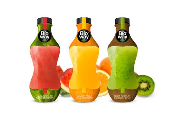 botellas para jugo orgánico