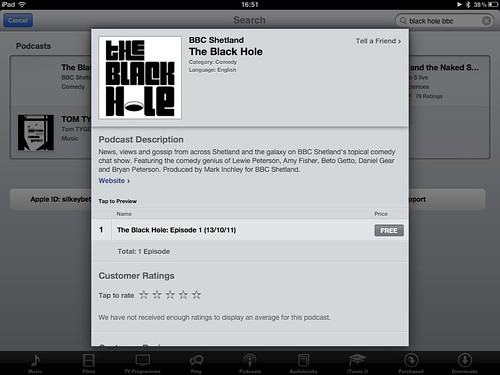 iTunes host to the podcast!