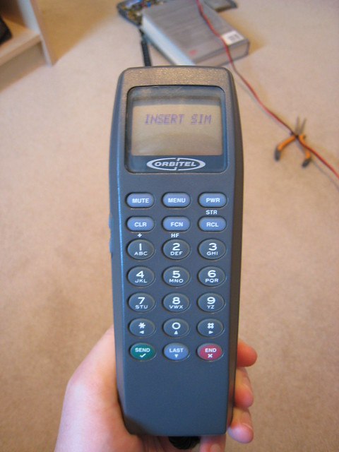 Orbitel 863 handset powered up
