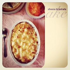 #cheese and #potato bake #taglietelle #dinner #cooking #homemade #instafood #food #foodporn #foodphotography #ipad2