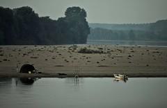 a pesca sul po (mat56.) Tags: beach water river landscapes boat barca fiume po acqua pesca paesaggi lombardia spiaggia tenda canne lodi pianura lodigiano padana sennalodigiana mat56
