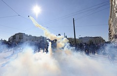 Athens (Verani Federico) Tags: news greek riot protest photojournalism athens gas demonstration strike molotov riots manifestazione sciopero clashes generalstrike atene petrolbombs parlamentogreco koukoulofori greekparlament greekcrisis crisigreca greeksprotestausteritymeasures 19102011