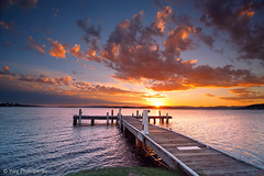 Sunset @ Lake Macquarie (-yury-) Tags: sunset cloud sun lake nature water landscape belmont jetty australia nsw centralcoast lakemacquarie squidsink thepowerofnow