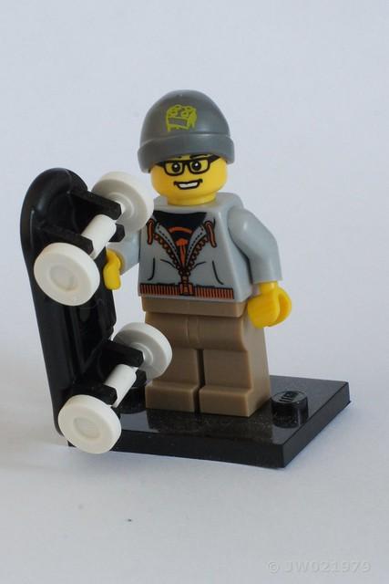 Lego Skateboarder Minifigure