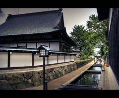 Seto river in Furukawa (Japan) (Shanti Basauri) Tags: street sky japan architecture river japanese canal village traditional pueblo koi carps  gifu hida  chubu japn seto japonia littletown  furukawa   setogawa