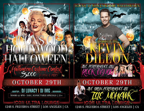 #ICONICSATURDAYS  ICONS OF HOLLWOOD HALLOWEEN Hosted by Kevin Dillon & $5K by VVKPhoto