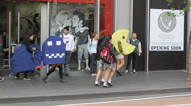 Pac-man on Lonsdale St