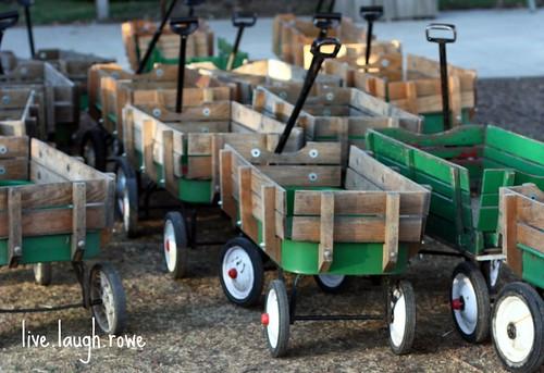 little green wagons