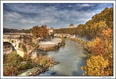 Isola Tiberina, Roma Italia. (paolopenna) Tags: bridge italy rome roma canon river italia ponte tiber tevere hdr 1740 isola tiberriver ef1740f4lusm 5dmkii bestofmywinners