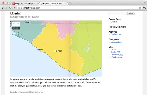A look at your embedded map on a Wordpress site