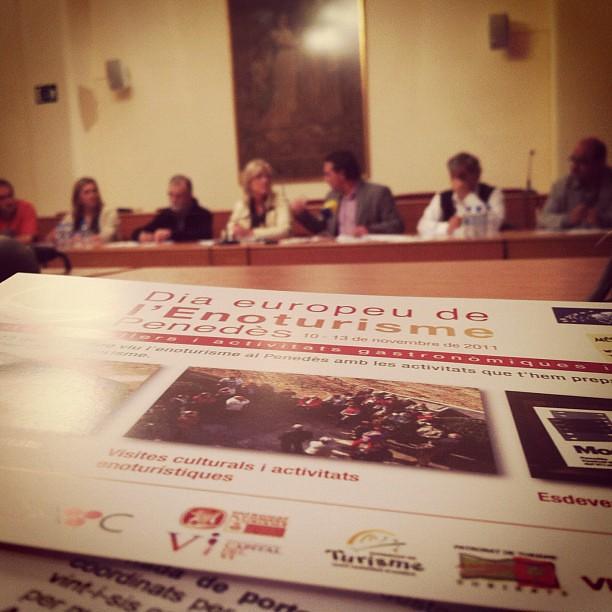 Presentació del Dia Europeu de l'Enoturisme al Penedès 2011