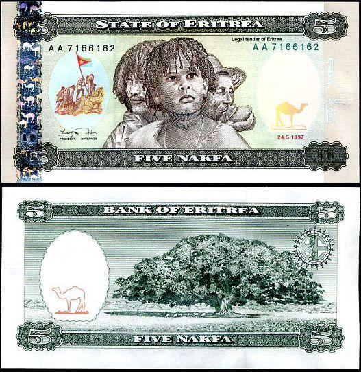 5 Nakfa Eritrea 1997, Pick 2