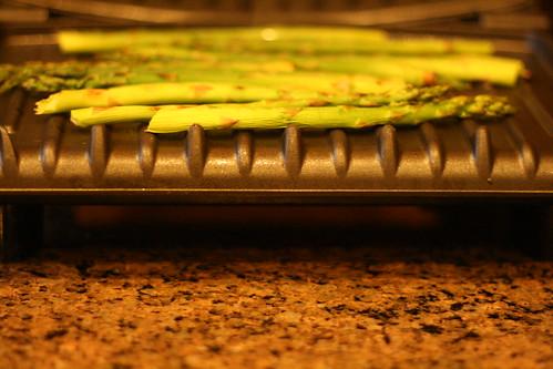 grilled asparagus.