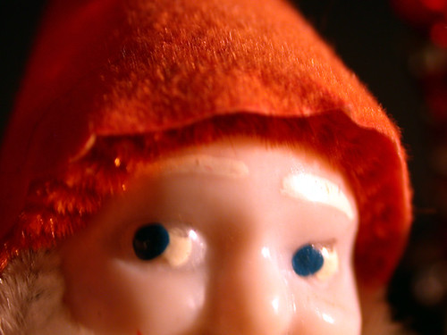 Christmas elf eyes close up - Book photography (c) 2001 Robert Aaron Wiley for Bindlegrim Productions