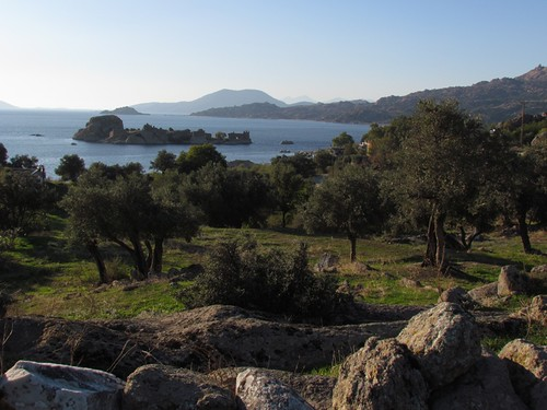 Byzantine ruins at Lake Bafa