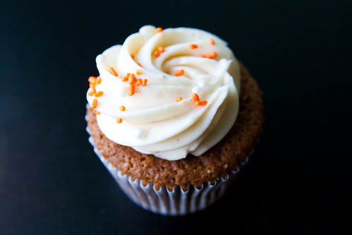 Pumpkin Cupcake with Cream Cheese Icing at Sugar Cafe