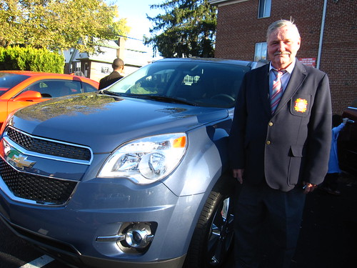 VZW Post 2819 Post Commander Joe O'Rourke with the Chevy Equinox