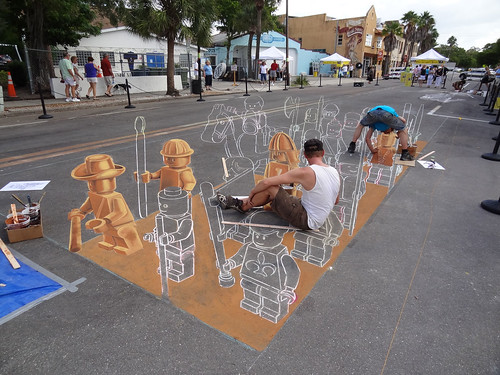 3d-streetpainting-chalkfestival by leon keer
