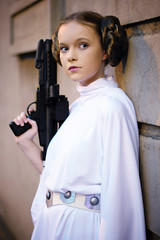 Leia (edy lianto) Tags: light portrait girl female movie star model gun natural princess cosplay group fi wars mcc sci leia organa