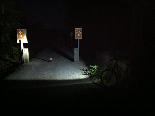 Bicicleta con el foco
