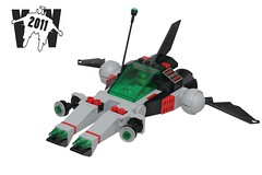Galactic Enforcer (pasukaru76) Tags: lego space sp2 moc starfighter 2011 canon100mm spacepolice vicviper nnovvember
