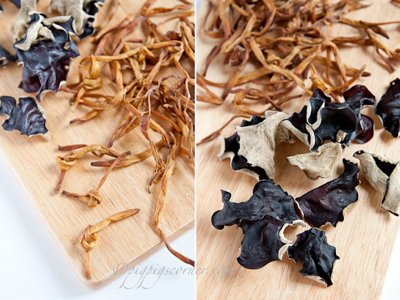 Black Fungus and Dried Lily Buds
