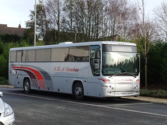 Colne (Andrew Stopford) Tags: volvo prima b7 colne plaxton boundarymill ghacoaches fj08byg woodstonescoaches