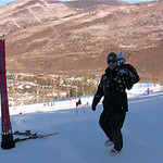 it doesn't get better than this getting ready for the Slalom Set on Ski and Snowboard Club Vail's Premium Slalom Lane, WMSC's Jeff Mac Lennan PHOTO CREDIT: WMSC Coach