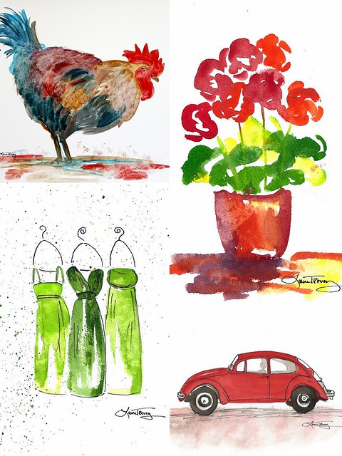 Laura Trevey Etsy Watercolors