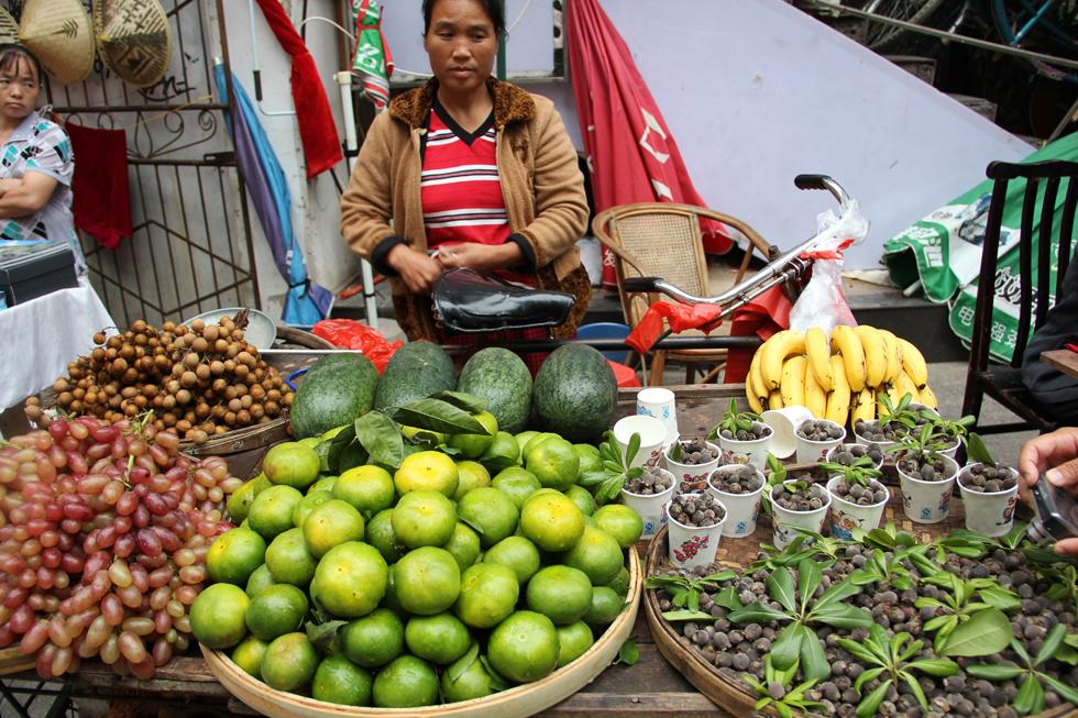 Chinese Bicycle Fruit Cart