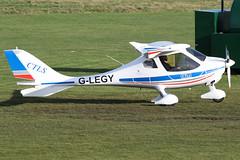 G-LEGY - 2008 build Flight Design CTLS, taxiing towards the main apron