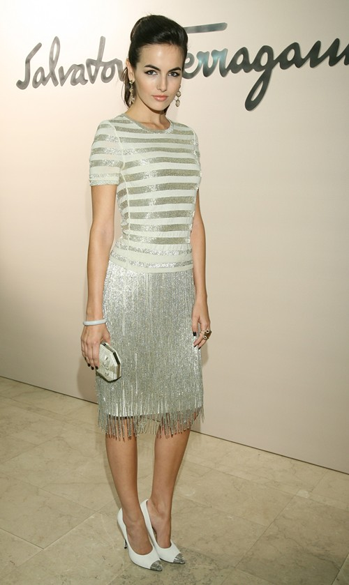 99 SALVATORE FERRAGAMO Fashion Show vom 20.Oktober in Moskau Camilla Belle - Gettyimages high res