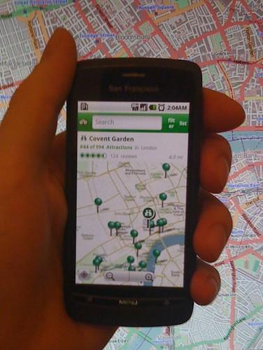 TripaAvisor Adroid app showing OpenStreetMap