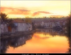 A dedicace for Alain Hugonenc (Gislaadt Art (I am back NOW)) Tags: orange france water river town ville sunet aveyron villefranchederouergue colorphotoaward