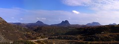 Classic view of Assynt Mountains from Lochinver - Clachtoll Road (AssyntNature) Tags: landscape scotland highlands scottish sutherland lochinver assynt
