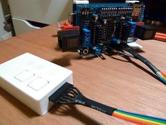 Polargraph SD with remote (Euphy) Tags: 3d drawing machine printed mega arduino adafruit motorshield polargraph