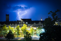 Thunderstorm (peterszustka) Tags: light storm night canon maastricht thunderstorm 1022mm onweer