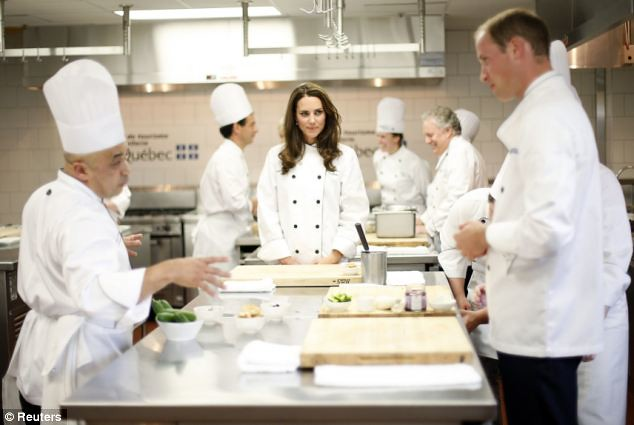 she can cook! Kate serves up a treat as she reveals her talent in the kitchen..  William  4