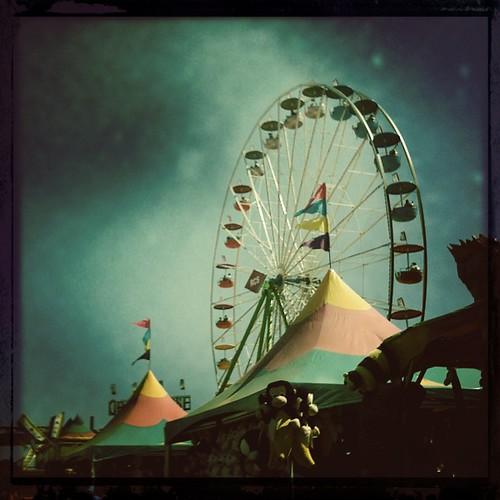 Ferris wheel storm