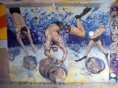 Oyster Divers (Pushing_Pixels) Tags: ny newyork art painting mural longisland oysters publicart gilgobeach oystermen oysterdivers