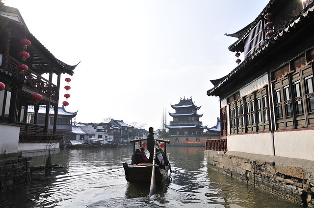 上海郊外・朱家角日帰り観光(海外の水の都・水郷都市を訪問できるオプショナルツアー)
