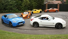 supercar line up Goodwood Festival of speed 2011 (richebets) Tags: nissan martin jaguar fos goodwood aston festivalofspeed fos2011 goodwoodfestivalofspeed2011 festivalofspeed2011