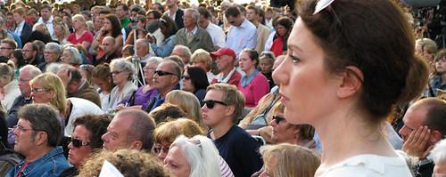 Publik under Lars Ohlys tal. Foto: Jesper Alex-Petersen