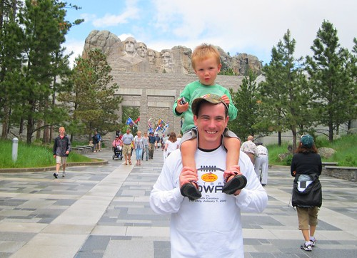 thad and WIll Mt. Rushmore