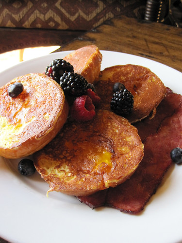 Apricot Brioche French Toast with Berries