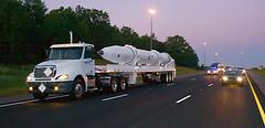 Transport of inert ground-based interceptor (The Boeing Company) Tags: huntsville space security boeing defense redstonearsenal missiledefense groundbasedmidcoursedefense